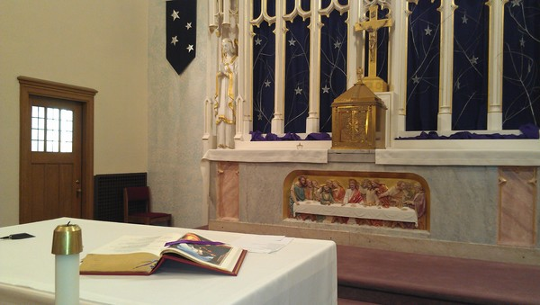 Church Altar with Bible